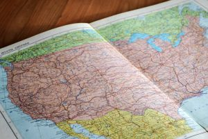 map of U.S. representing how goals get us to our desired destination