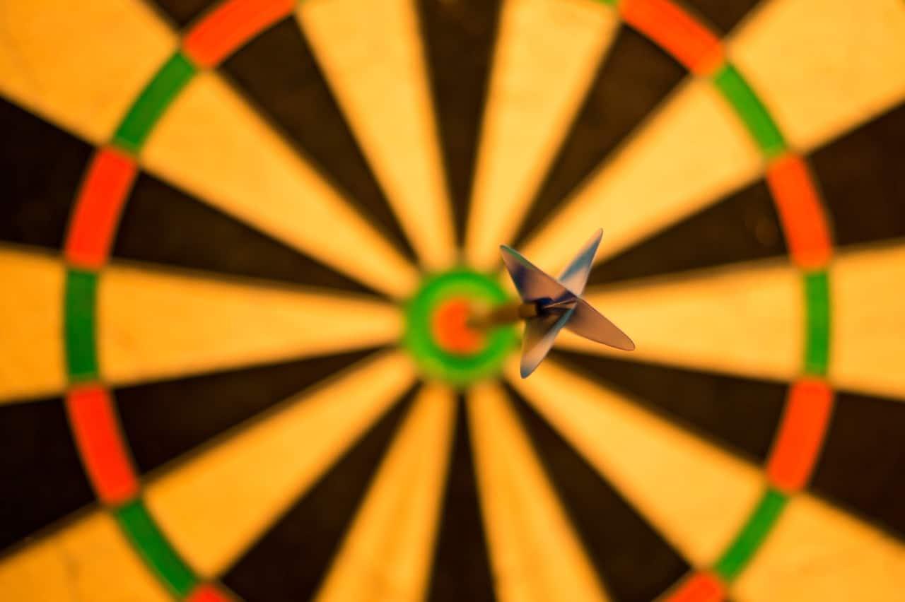 target representing financial goals