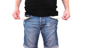 man with empty pockets why is it so hard to save money