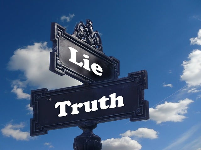 Street sign of Truth and Myth