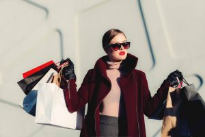 Woman shopping_how to live within your means