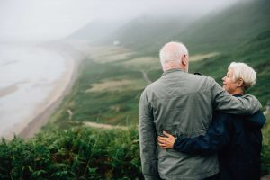Older couple talking about what questions to ask before retirement