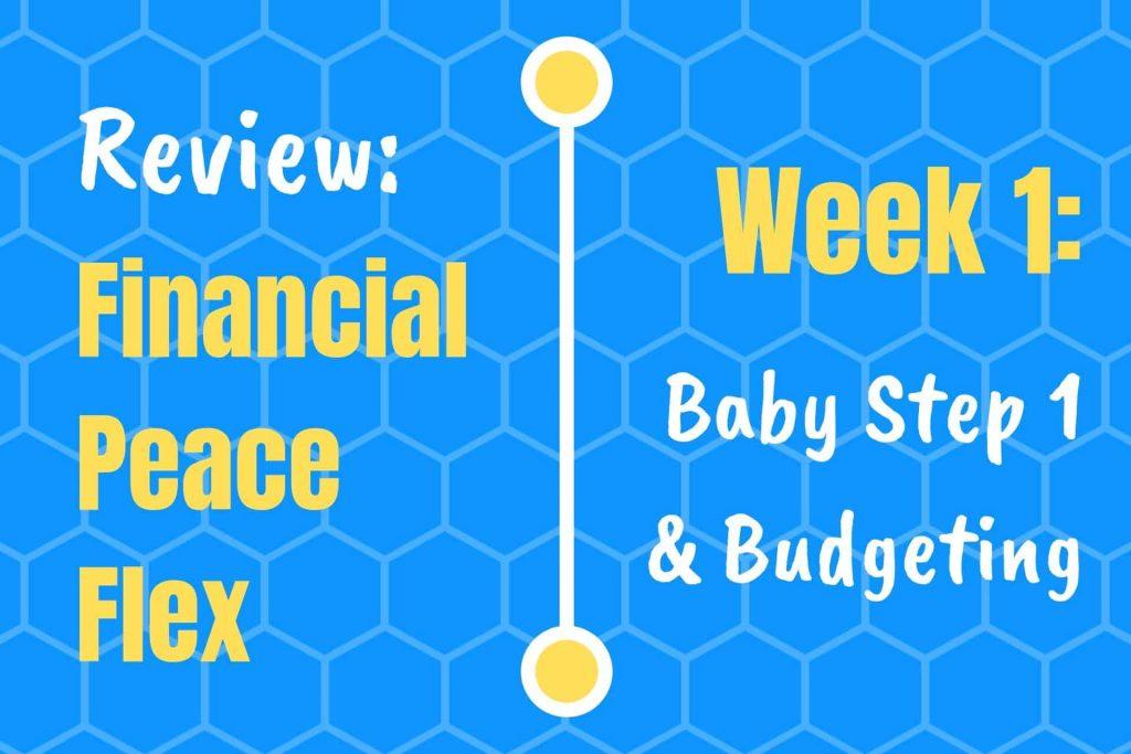 Financial Peace Week 1