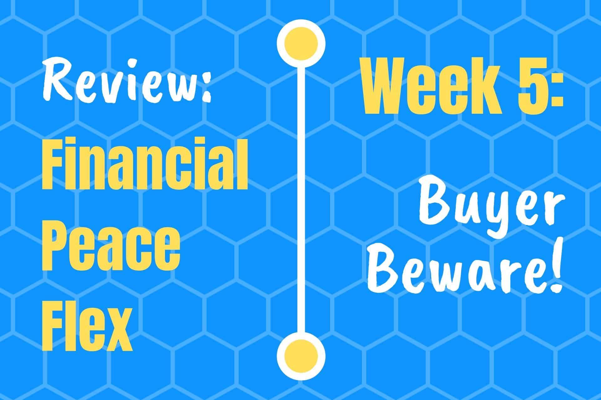 Financial peace university week 5 review