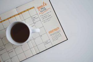 Goal planner representing benefits of setting financial goals