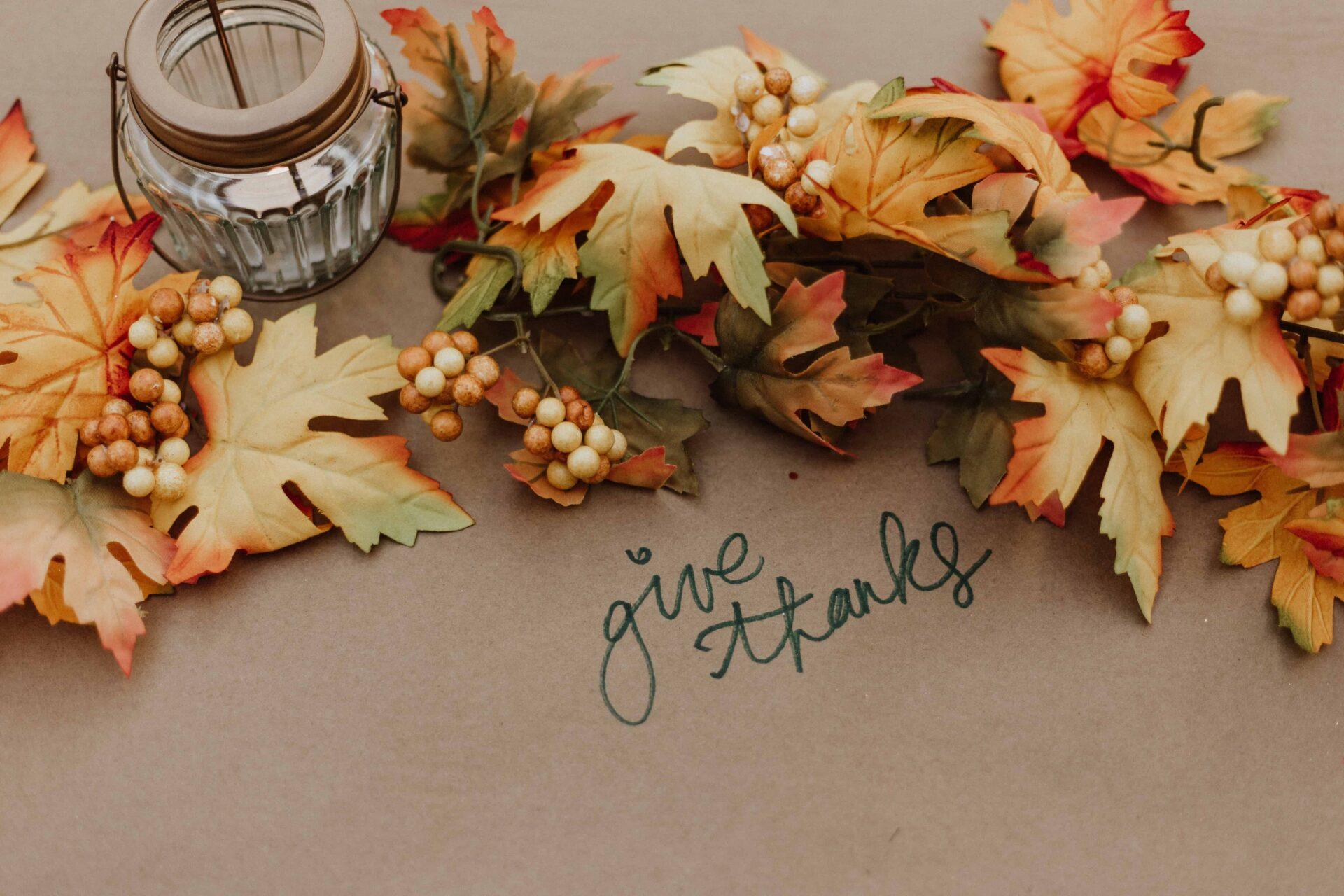 Fall decorations for November Financial Checklist