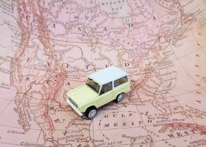Toy car on roadmap for how to escape debt
