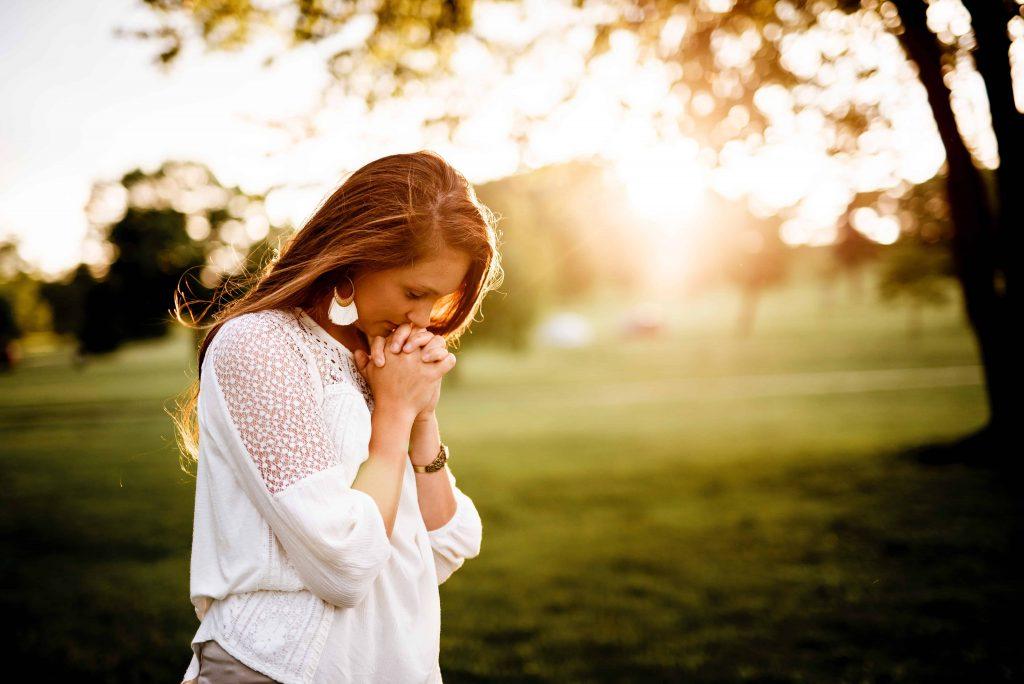 Woman practicing daily spiritual habits