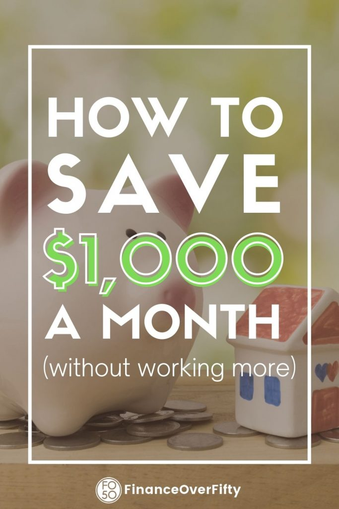 How to save $1000 a month pin