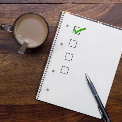Checklist (how to stop spending money)