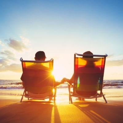 Vacationing couple living rich now Latte Factor