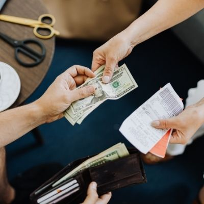 Paying with cash and living within your means