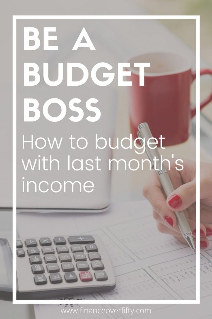Budget with last month's income pin image