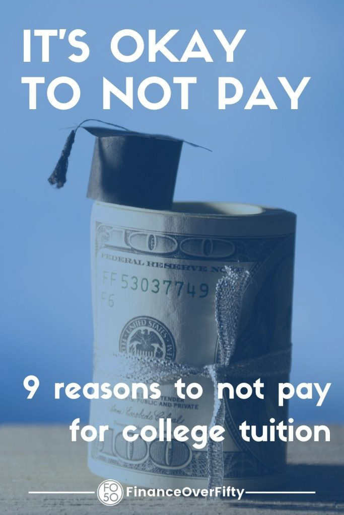 Not Paying for Kids College pin