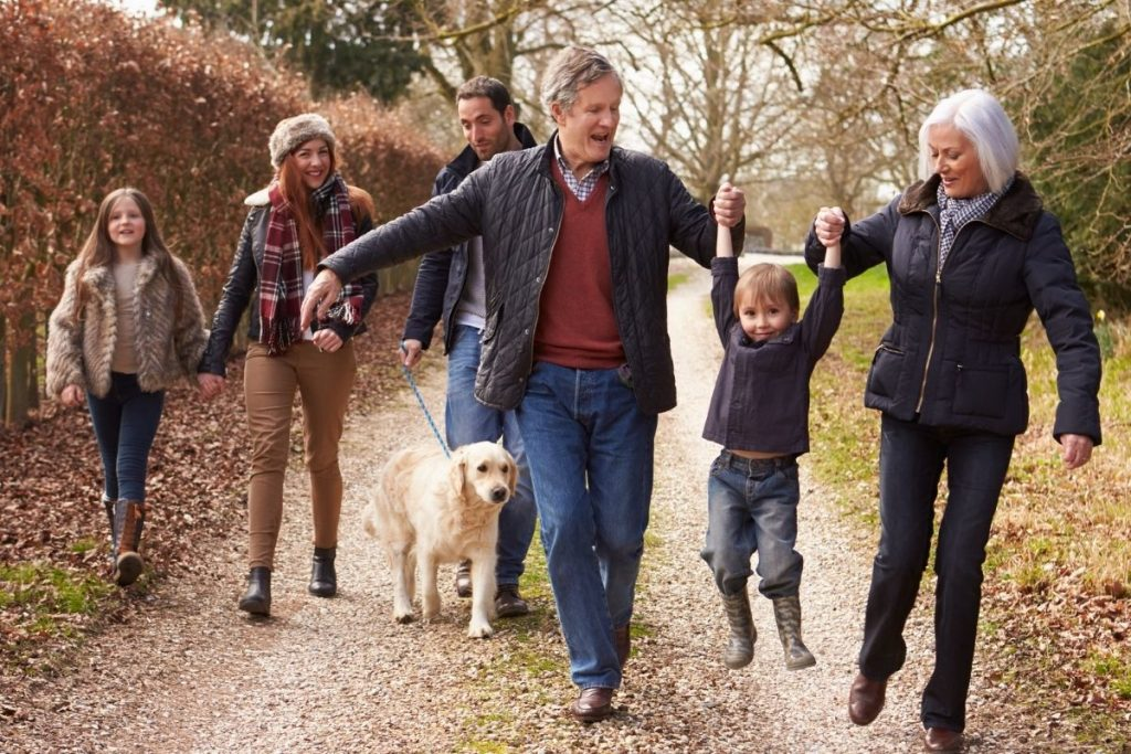 Multi-generational family representing estate planning checklist