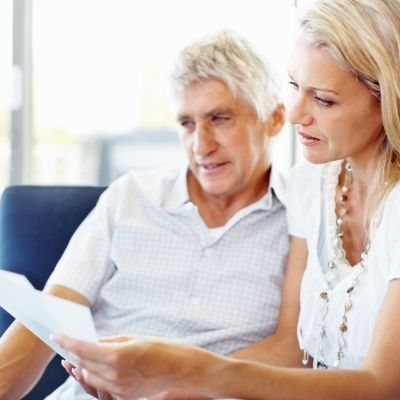 Couple reviewing estate plan