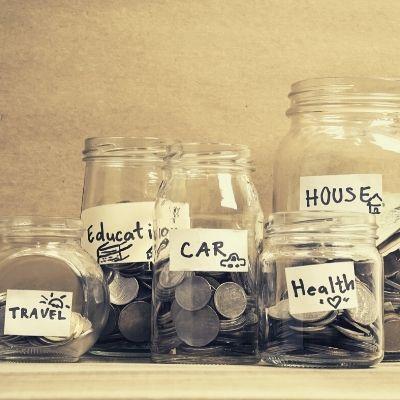Money saving jars