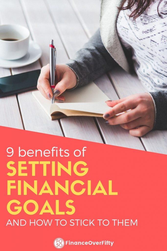 Benefits of Setting Financial Goals pin