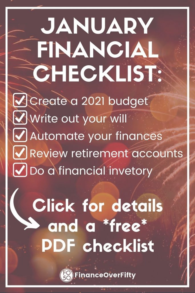January Financial Checklist pin