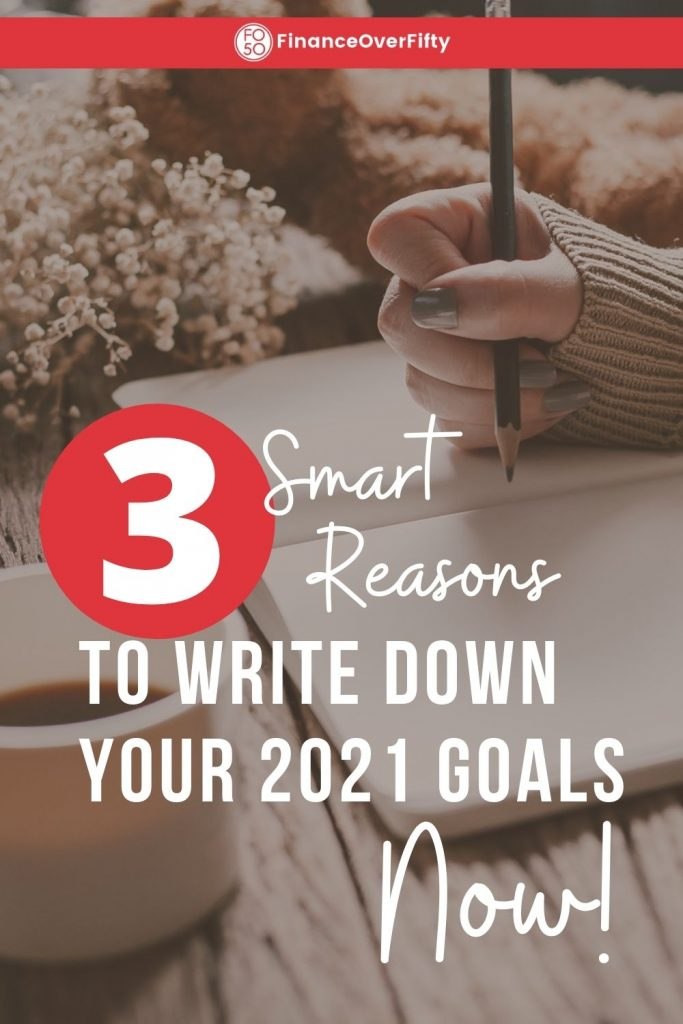 Write Down 2021 Goals pin