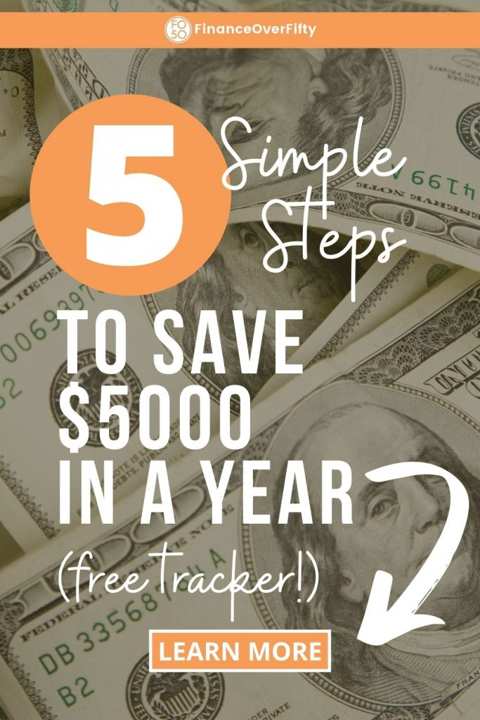 How To Save $5000 In A Year pin