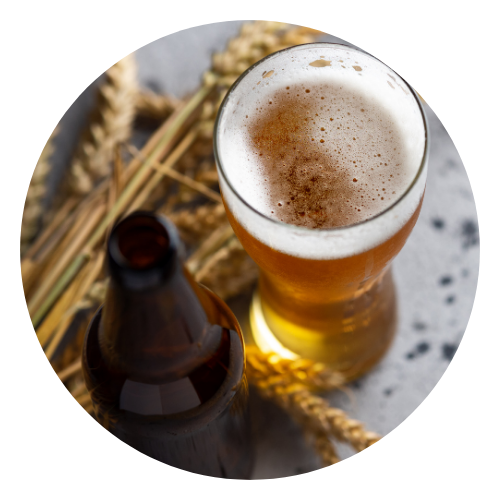 A glass of homebrewed beer
