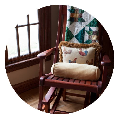 Rocking chair and quilt
