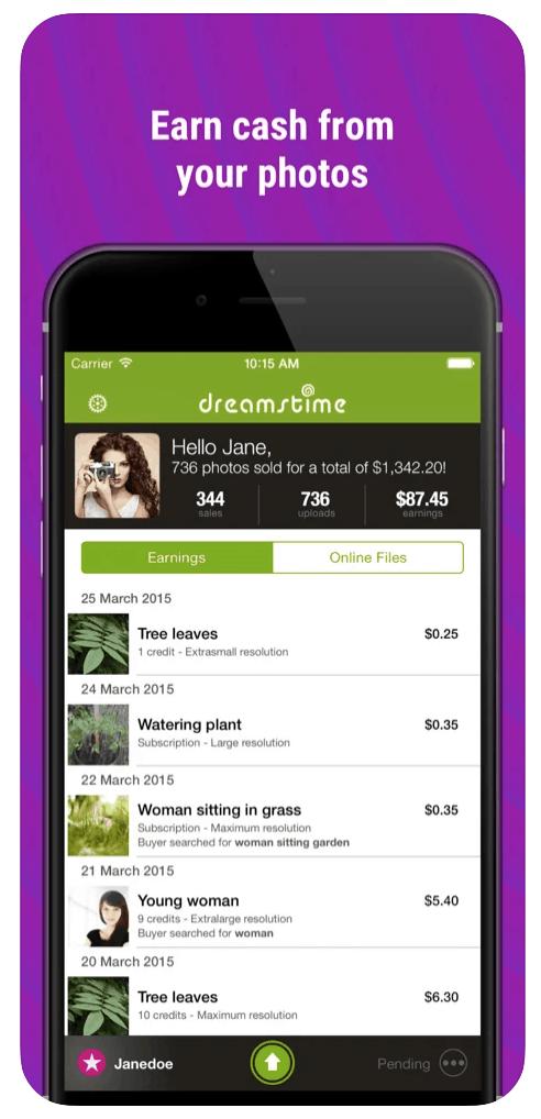 Dreamstime Mobile App screenshot