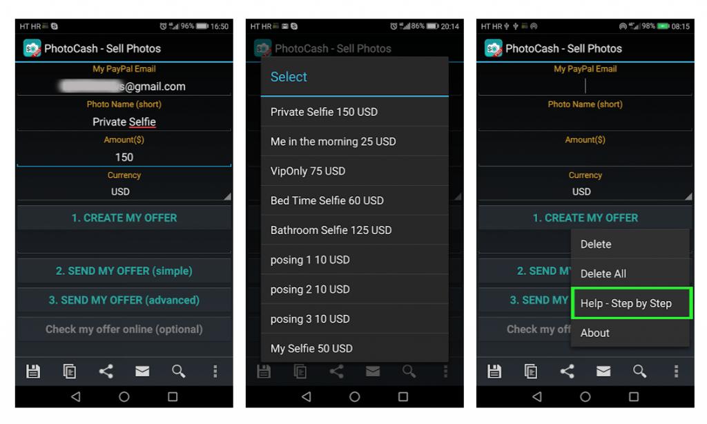Photocash Mobile App screenshot