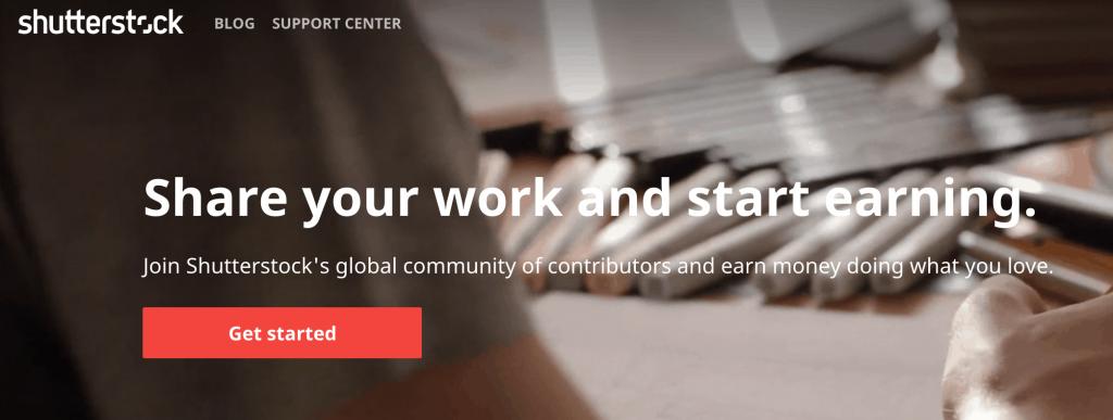 Shutterstock Website screenshot