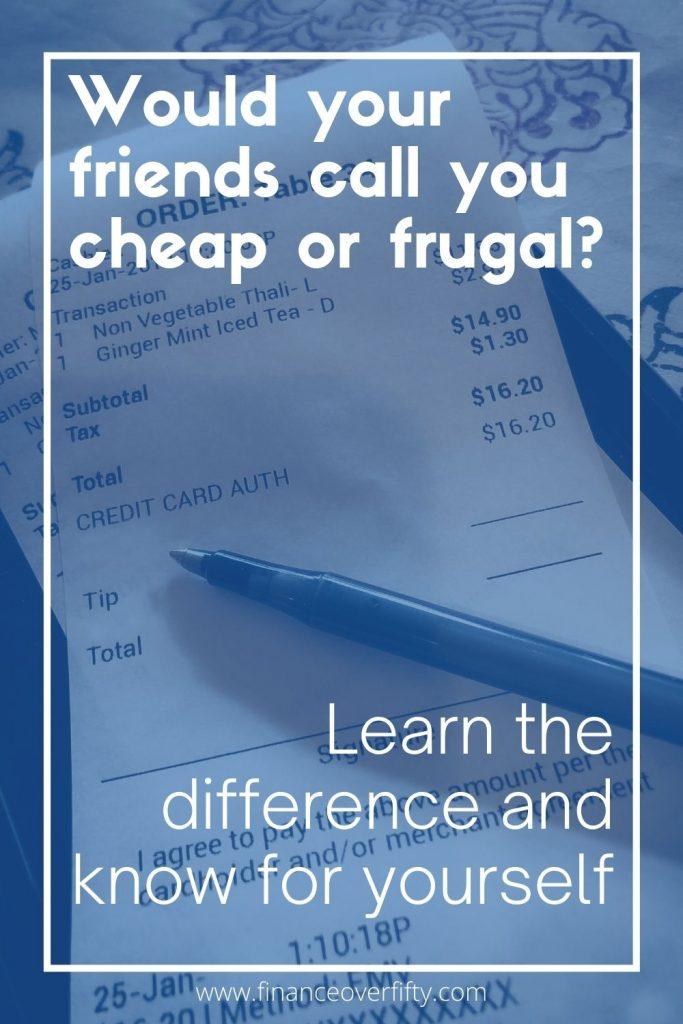 Frugal vs Cheap pin