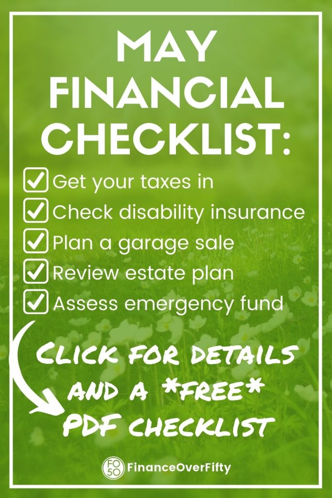 May Financial Checklist pin