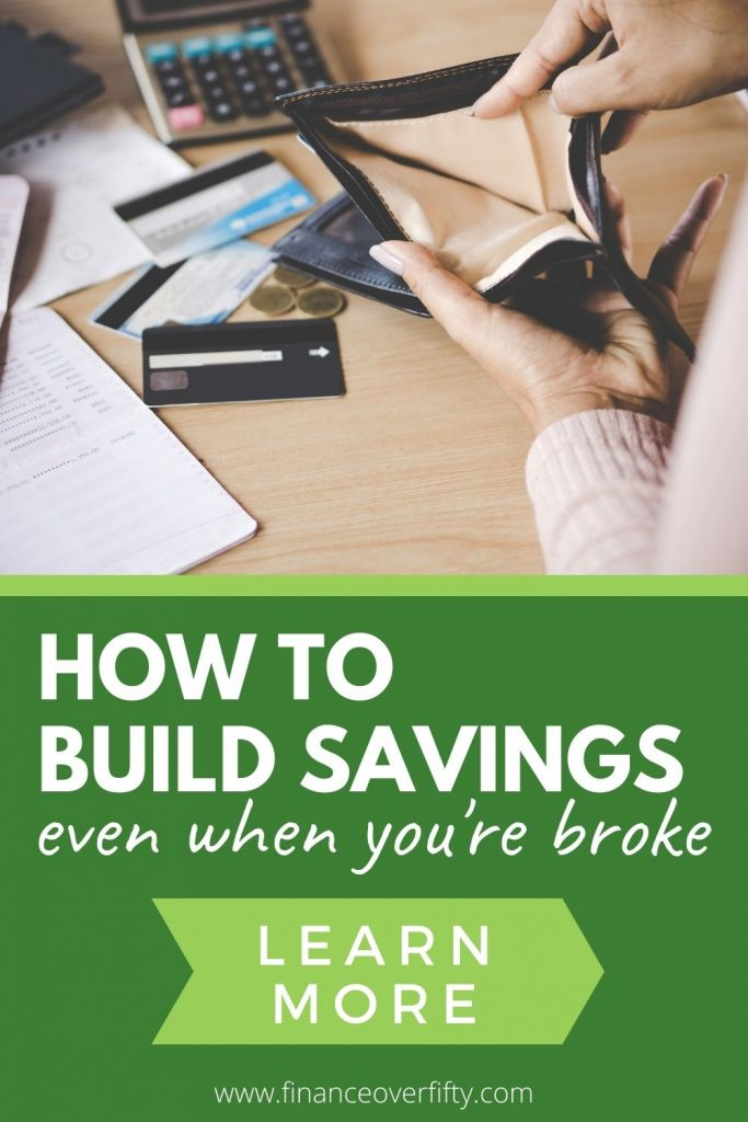 How to save money when you're broke pin