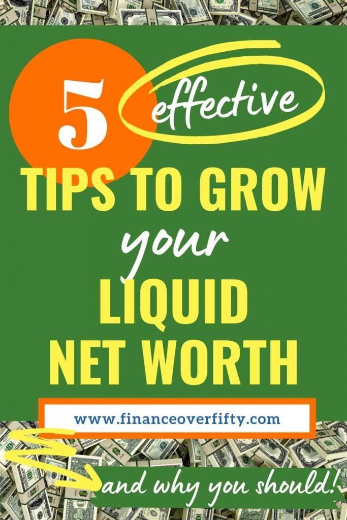Liquid net worth pin