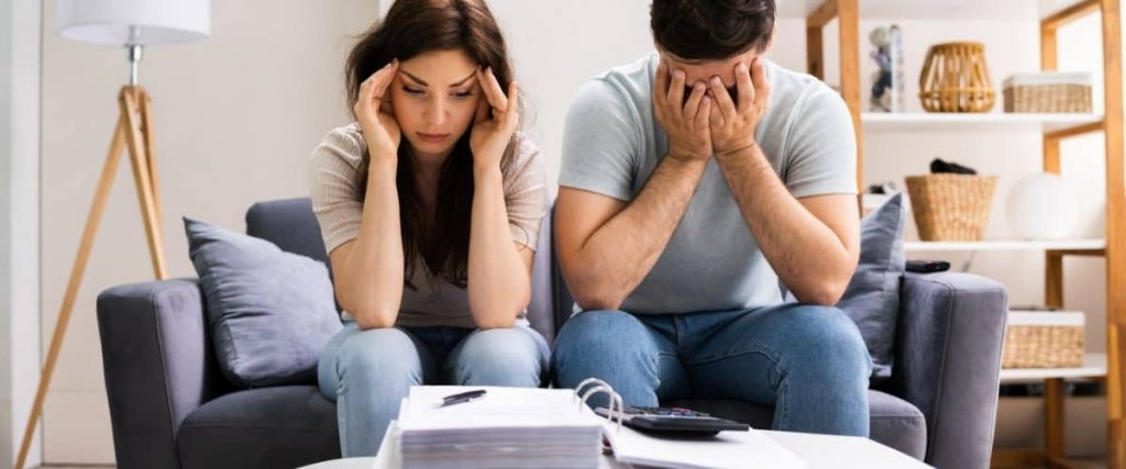 Married couple stressed about money