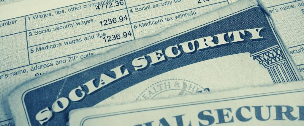 Social Security cards and paystub