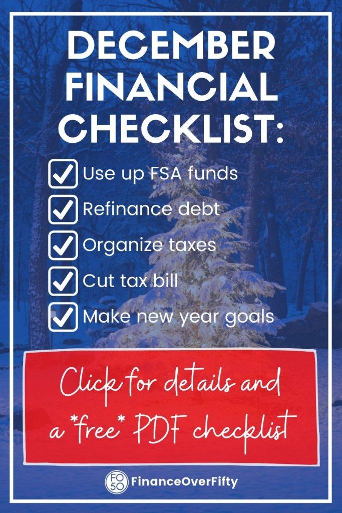 December financial checklist pin