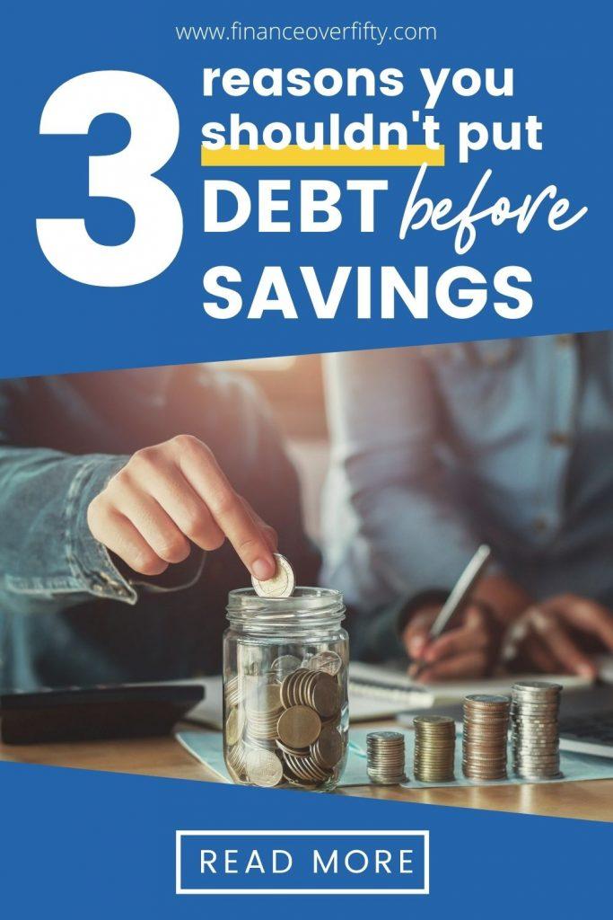 Put Savings Before Debt pin