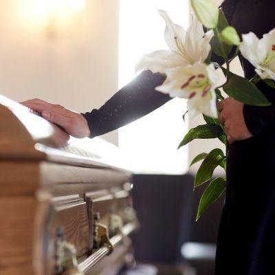 Casket at a funeral