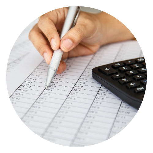 Woman tracking her savings goals