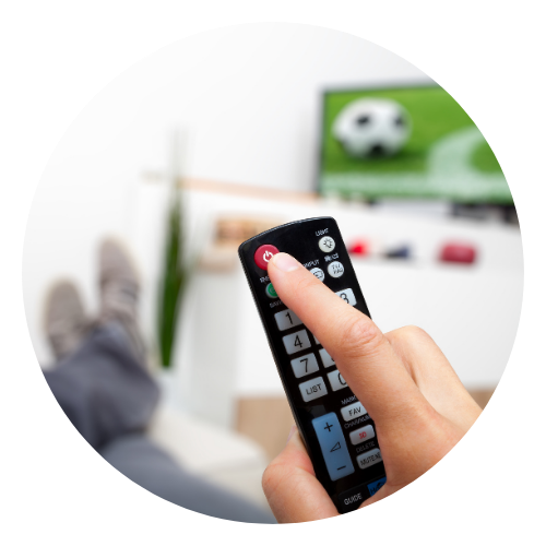 Turning off TV with remote